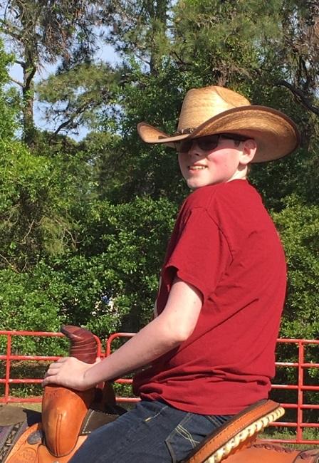 Dylan on horseback